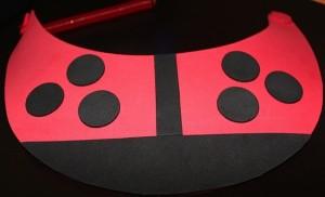 Add Black Dots to Lady Bug Visor