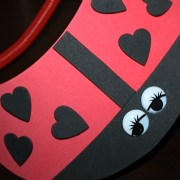 Ladybug visor with black heart spots