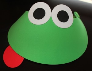 Frog Visor with Red Tongue on the Side