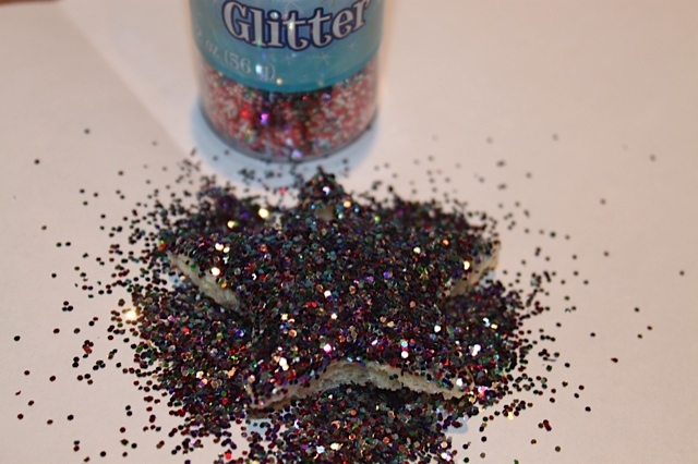 Glitter on Top of Star Bread Ornament