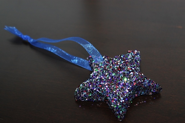 Star Bread Ornament with Ribbon