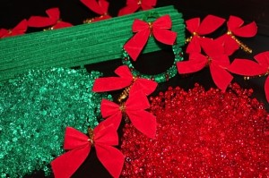 wreath bead ornament kit supplies