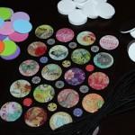 epoxy circle stickers, foam circles, adhesive craft magnets