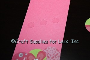 Bookmark Insert with Glue Dots attached