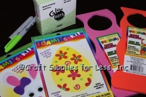 easter egg and bunny foam door hangers supplies needed