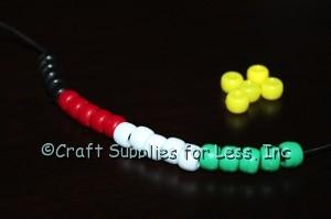 Salvation Bracelet add green pony beads