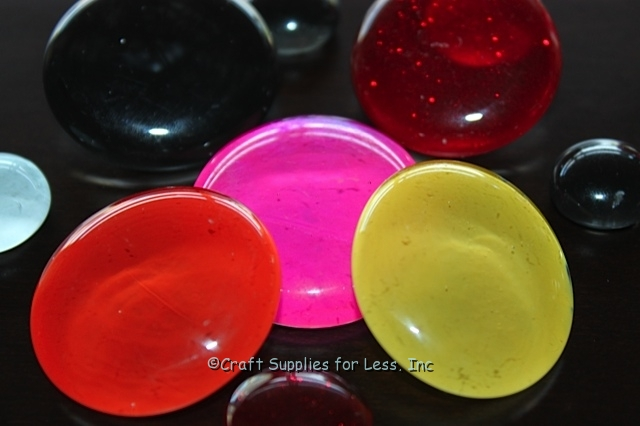 Nail Polish Craft... Large Colored Glass Gems