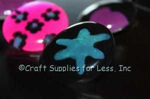 Glass Gem Jewelry with Nail Polish