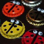 Ladybug Bottle Cap Magnets