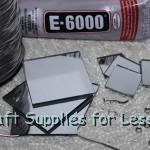 Supplies Needed to make Craft Mirror Garland
