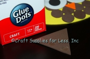 Glue Dots added to Large Brown Triangle Shape