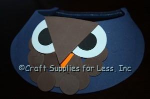 Navy Owl Foam Visor
