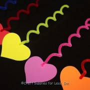 foam heart decorations