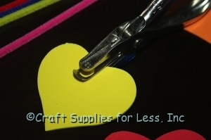 """Hole punch foam shapes with a 1/8"""" punch"""