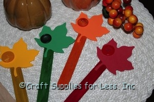 Thankful leaf craft sticks