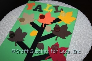 Thankful tree with leaves and acorns