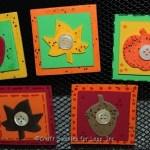 fall magnets on black frame