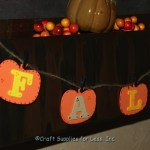 Hanging pumpkin garland