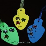 Easy DIY Holiday Gift Tags for kids to make