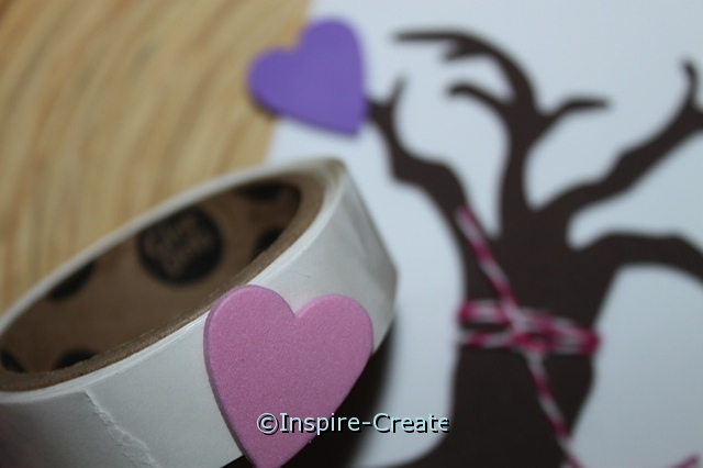 add craft glue dot to heart foam shape