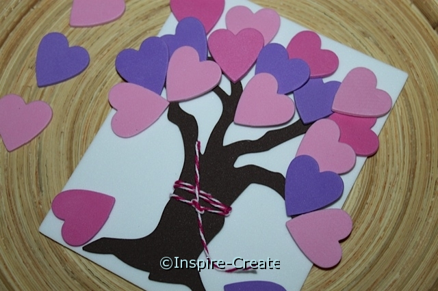 heart shapes on tree branches