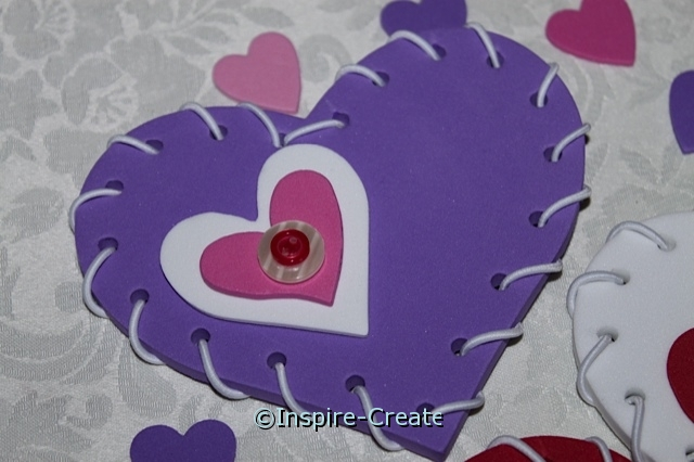 purple heart for valentine craft