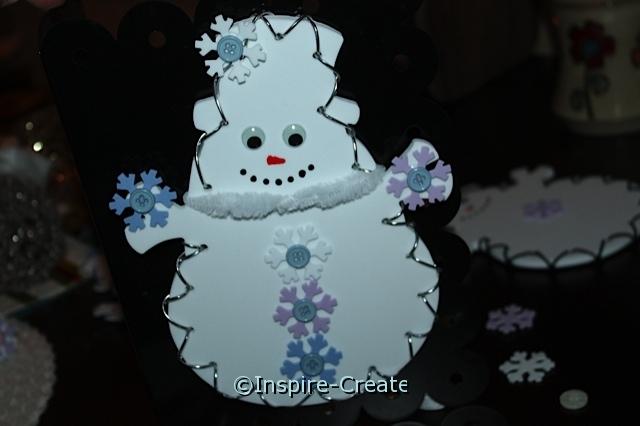 Snowman & Snowflake Magnet