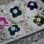 Glitter Easter Eggs in a Basket