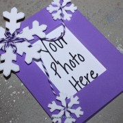 snowflake frame for frozen party