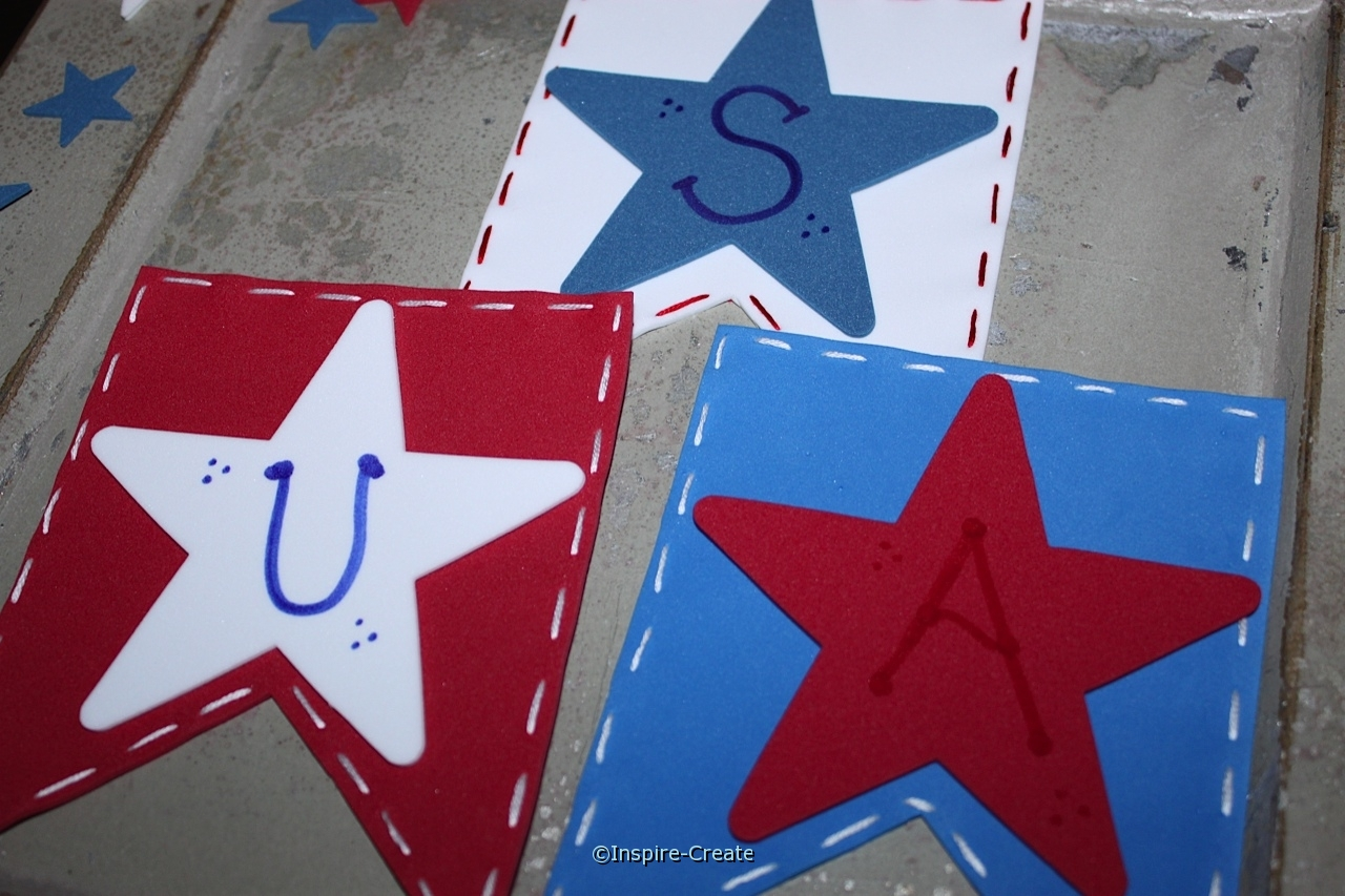 How to Make an Easy USA Banner