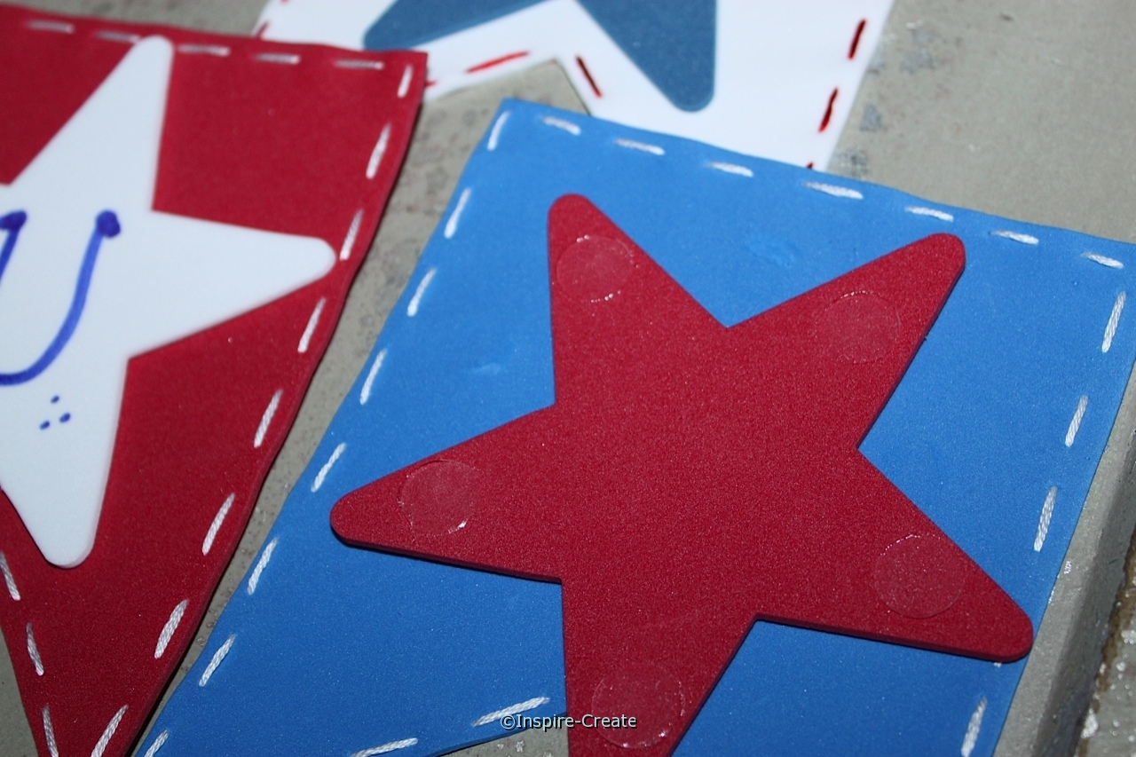 Attach Stars to Banner with Glue Dots