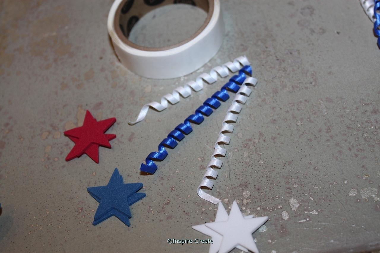 easy to make curly ribbon with stars