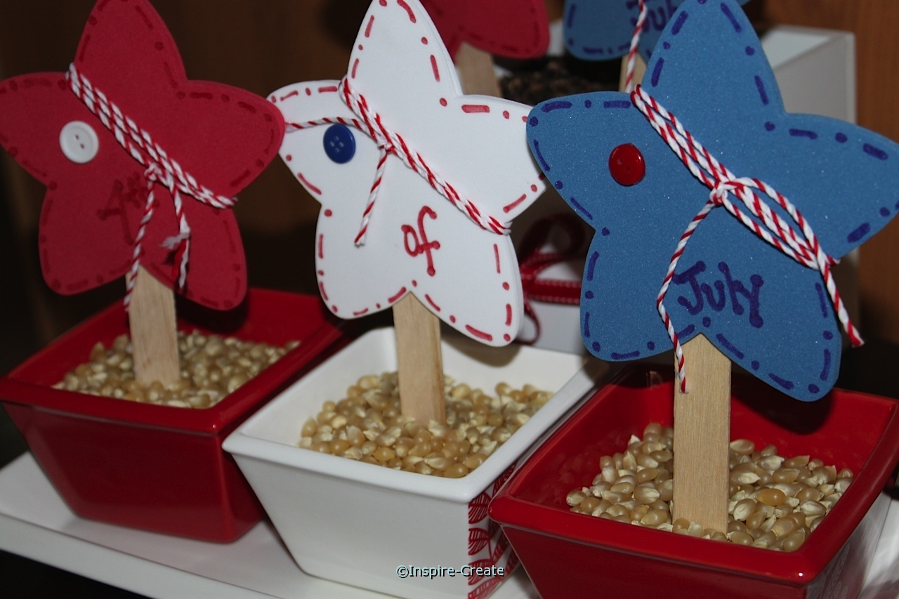 4th of July table decorations with Craft Foam & Baker's Twine