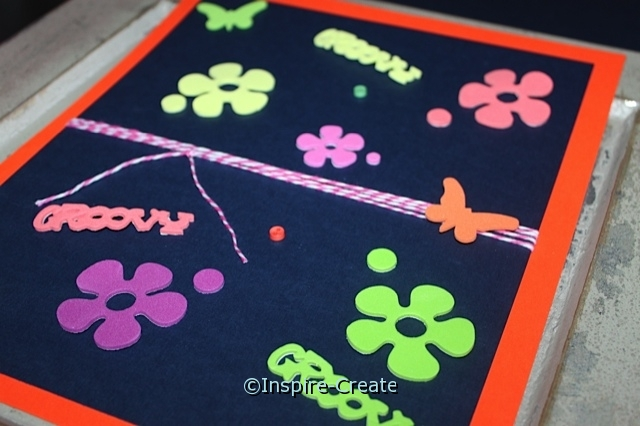 Flower Binder..  attach stickers to cardstock.