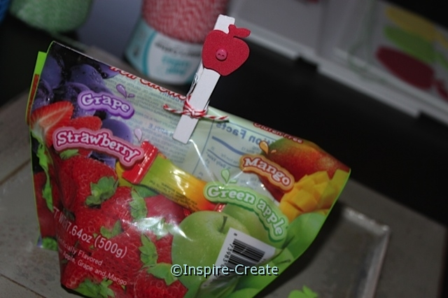 Apple Clothespin... Use as a Chip Clip!