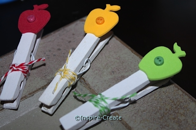 Make Apple Clothespins Magnets... Tutorial.