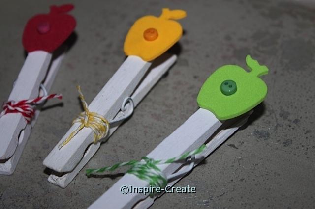 Easy Apple Clothespins... Tutorial