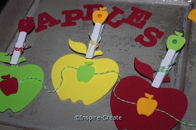 DIY: Apple Garland with Clothespins