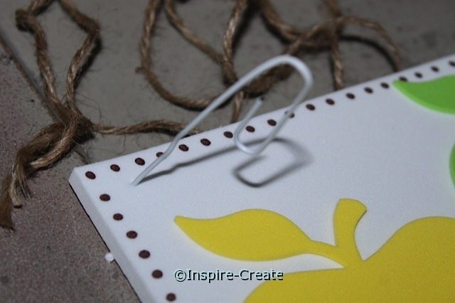 Use a jumbo paperclip to punch 6mm craft foam