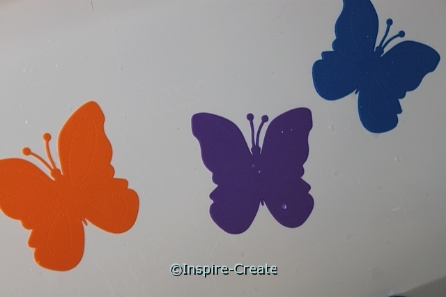 Butterflies shapes for bath time