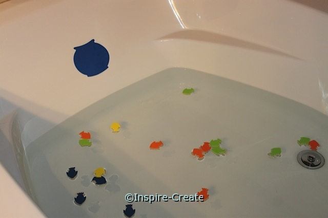 Bath Time Fun... Float Craft Foam Shapes in the Water