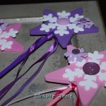 Easy to Make Snowflake Wands for your next winter party!