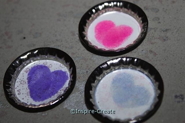 Easy to Make Heart Thumbprint Magnets