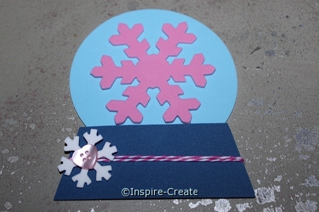 Add a Small Snowflake Shape and Mini Button to the Baker's Cotton.