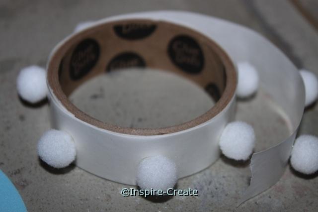 Attach mini pom poms to craft foam with Mini Glue Dots!
