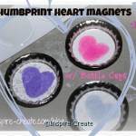 Heart Thumbprint Magnets... Perfect for kids to make and give as gifts!