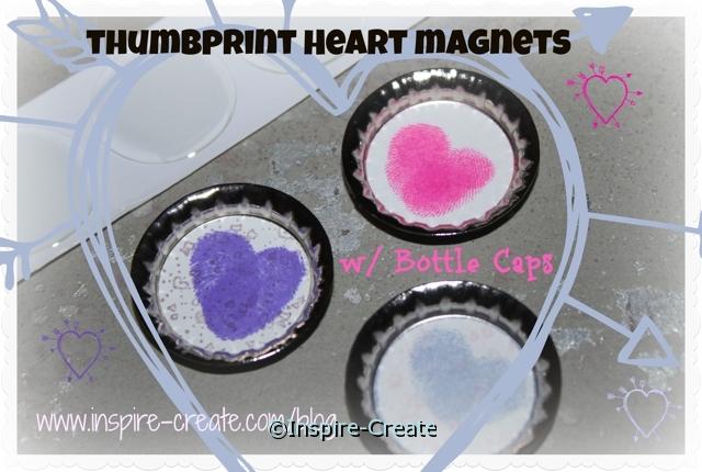 Easy Thumbprint Heart Magnets for Kids to Make!