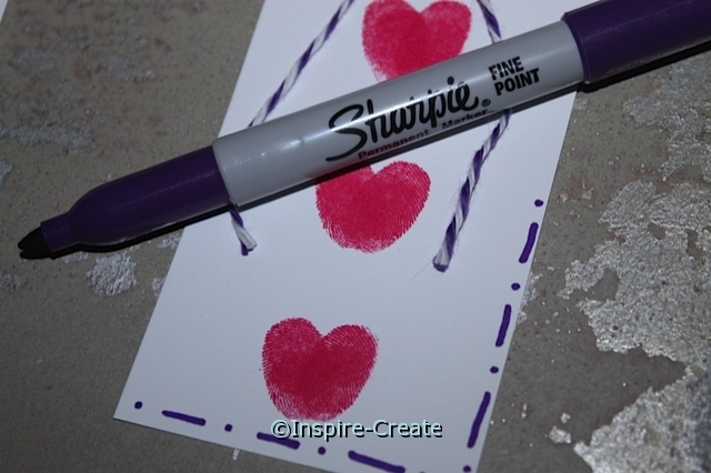 Heart Bookmarks for Kids...add lines around insert with Sharpie Markers