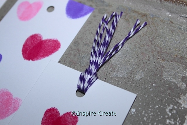 Use Baker's Twine to make Bookmark Topper.