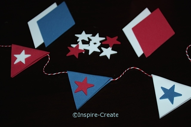 4th of July Pennant Flags...DIY